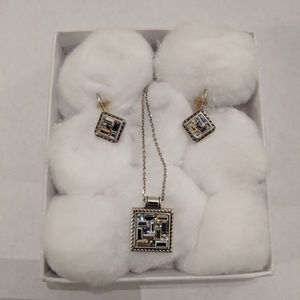 Brighton necklace and earrings set